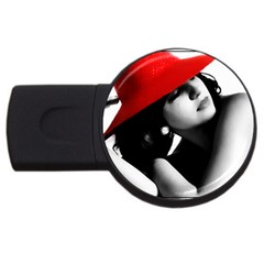 Red Hat 4gb Usb Flash Drive (round) by dray6389