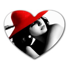 Red Hat Mouse Pad (heart) by dray6389