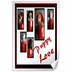 Puppy Love Canvas 24  X 36  (unframed)