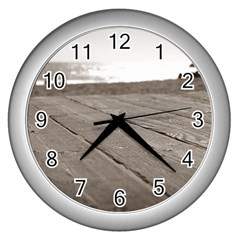 Laguna Beach Walk Wall Clock (silver) by hlehnerer