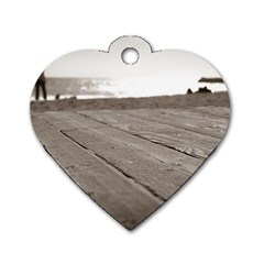 Laguna Beach Walk Dog Tag Heart (two Sided) by hlehnerer