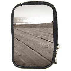 Laguna Beach Walk Compact Camera Leather Case by hlehnerer
