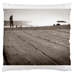 Laguna Beach Walk Large Cushion Case (one Side) by hlehnerer