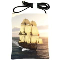 French Warship Shoulder Sling Bag by gatterwe