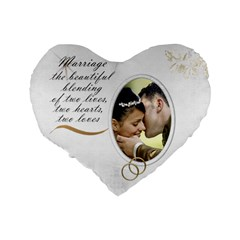 Marriage 16  Heart Shape Cushion By Deborah   Standard 16  Premium Heart Shape Cushion    Iyk5vfj7sqxt   Www Artscow Com Back