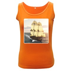 French Warship Womens  Tank Top (dark Colored) by gatterwe