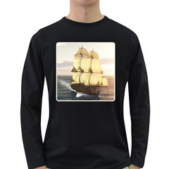 French Warship Mens' Long Sleeve T Shirt (dark Colored) by gatterwe