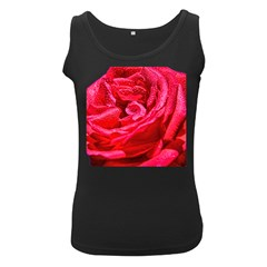 Rose On A Tank Top Womens  Tank Top (black) by designsbyvee