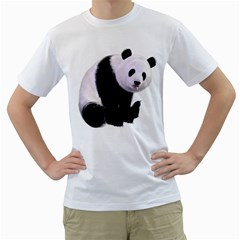 Panda Bear Mens  T Shirt (white)