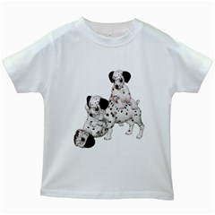 Dalmatian Puppies 1 Kids' T Shirt (white) by gatterwe