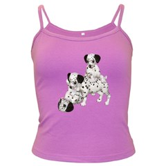 Dalmatian Puppies 1 Spaghetti Top (colored) by gatterwe
