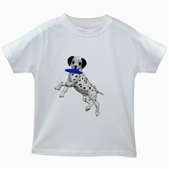 Dalmatian Puppies 3 Kids' T Shirt (white) by gatterwe