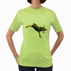 Donkey 1 Womens  T Shirt (green) by gatterwe