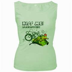 Kiss Me!  Womens  Tank Top (green) by gatterwe
