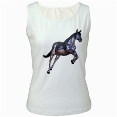 Metal Horse 1 Womens  Tank Top (white) by gatterwe