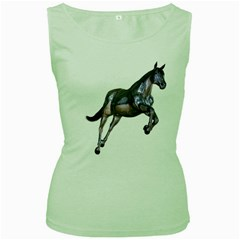 Metal Horse 1 Womens  Tank Top (green) by gatterwe