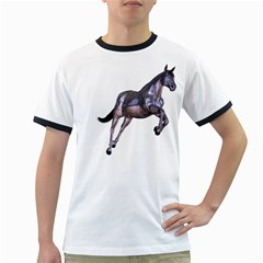 Metal Horse 1 Mens' Ringer T Shirt by gatterwe