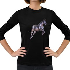 Metal Horse 1 Womens' Long Sleeve T Shirt (dark Colored)