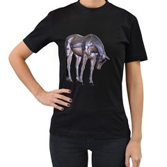 Metal Horse 2 Womens' Two Sided T Shirt (black) by gatterwe
