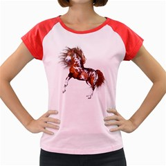 Native Horse Women s Cap Sleeve T Shirt (colored)