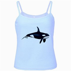 Orca 1 Baby Blue Spaghetti Tank by gatterwe