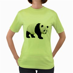 Panda Bear 2 Womens  T Shirt (green) by gatterwe