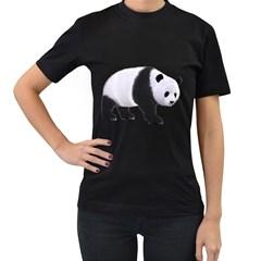 Panda Bear 2 Womens' T Shirt (black) by gatterwe