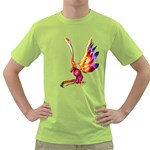 Phoenix 1 Mens  T-shirt (Green) Front