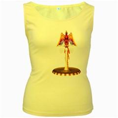 Phoenix 3 Womens  Tank Top (yellow) by gatterwe