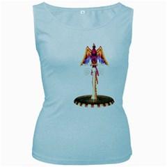 Phoenix 3 Womens  Tank Top (baby Blue) by gatterwe