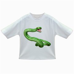Green Snake Baby T Shirt by gatterwe