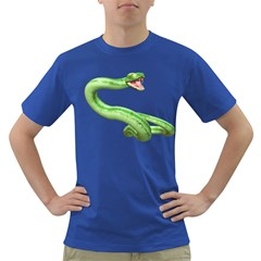 Green Snake Mens' T Shirt (colored) by gatterwe