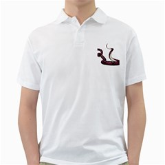 Snake Mens  Polo Shirt (white) by gatterwe