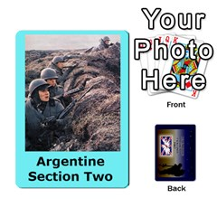 Tfl Iabsm Falklands Deck Argentine By Joe Collins   Playing Cards 54 Designs   Z9yc316d1qh6   Www Artscow Com Front - Diamond5