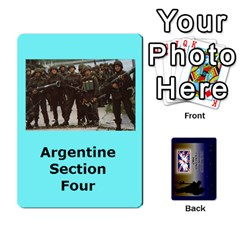 Tfl Iabsm Falklands Deck Argentine By Joe Collins   Playing Cards 54 Designs   Z9yc316d1qh6   Www Artscow Com Front - Diamond7