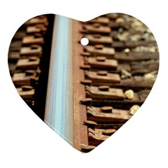 Train Track Heart Ornament by hlehnerer
