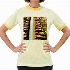 Train Track Womens  Ringer T Shirt (colored) by hlehnerer