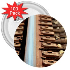 Train Track 3  Button (100 Pack) by hlehnerer