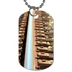 Train Track Dog Tag (one Sided) by hlehnerer