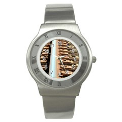 Train Track Stainless Steel Watch (unisex) by hlehnerer