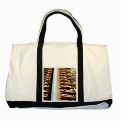 Train Track Two Toned Tote Bag by hlehnerer
