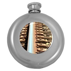 Train Track Hip Flask (round) by hlehnerer