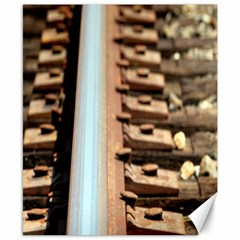 Train Track Canvas 8  X 10  (unframed) by hlehnerer
