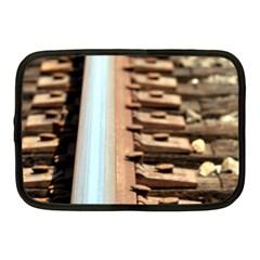 Train Track Netbook Case (medium) by hlehnerer