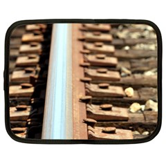 Train Track Netbook Case (large) by hlehnerer