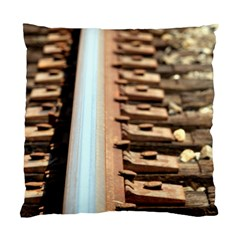 Train Track Cushion Case (two Sides) by hlehnerer