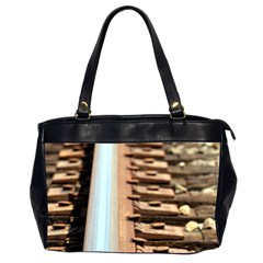 Train Track Oversize Office Handbag (two Sides)