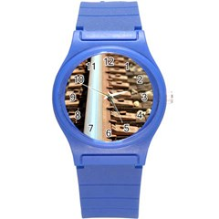 Train Track Plastic Sport Watch (small) by hlehnerer
