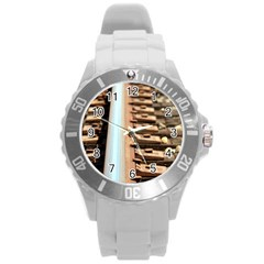 Train Track Plastic Sport Watch (large) by hlehnerer