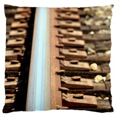 Train Track Large Cushion Case (two Sides) by hlehnerer